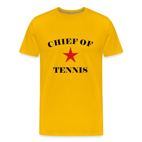 chieftennis (yellow) - Men's Premium T-Shirt