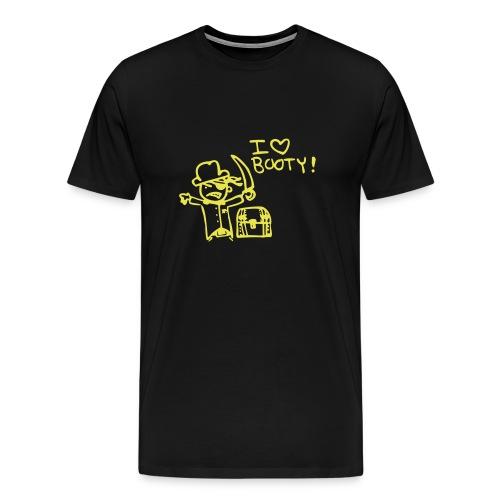 i heart booty - Men's Premium T-Shirt