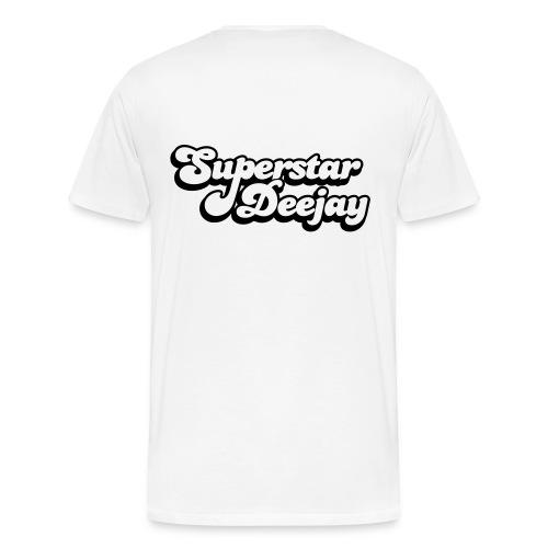 DJ Bigman White T-Shirt - Men's Premium T-Shirt