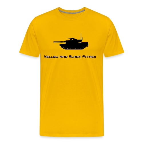 Yellow and Black Attack - Men's Premium T-Shirt
