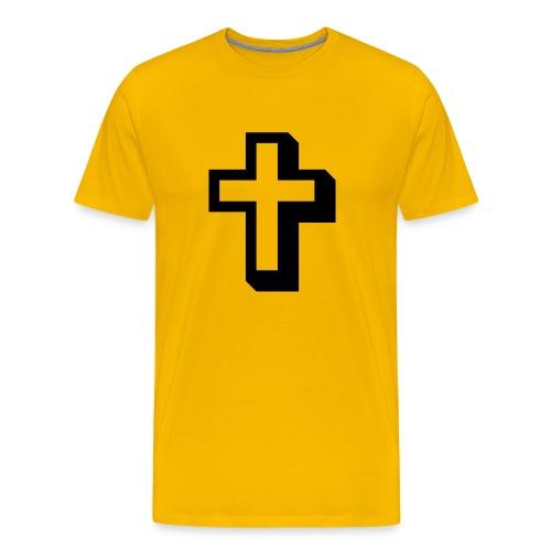 Cross T-shirt Yellow - Men's Premium T-Shirt