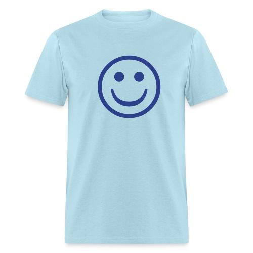 'Smiley' Comfort T-Shirt (Blue on Sky) - Men's T-Shirt