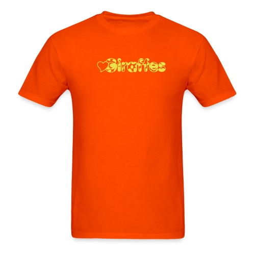 Heart Giraffes Orange T-shirt - Men's T-Shirt