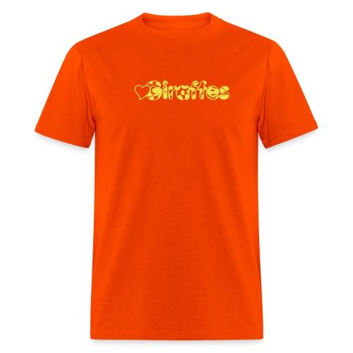 Heart Giraffes Orange T-shirt - Men's T-Shirt