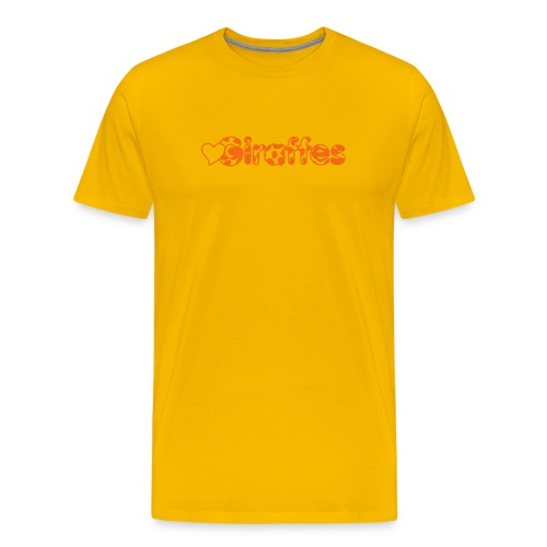 Heart Giraffes Yellow T-shirt - Men's Premium T-Shirt