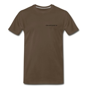 Chocolate T w/ d.* Logo on Breast - Men's Premium T-Shirt