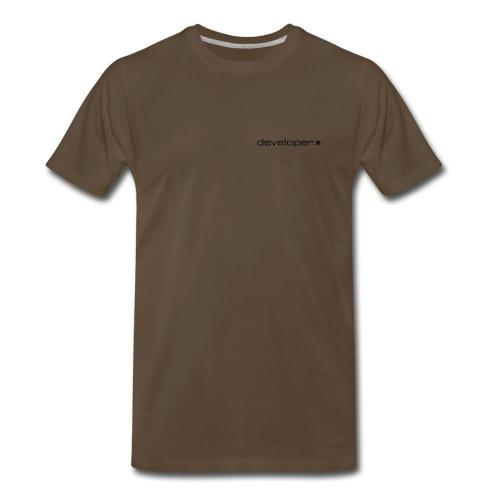 Chocolate T w/ d.* Logo on Breast - Men's Premium T-Shirt