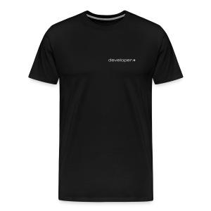 Black T-Shirt with d.* Logo Above Breast - Men's Premium T-Shirt