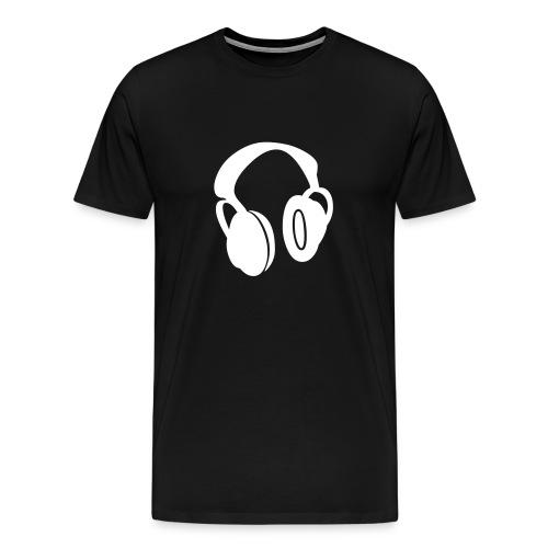 Crack Rock Records - Headphones T Shirt - Men's Premium T-Shirt