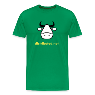 T-Shirts ~ Men's Premium T-Shirt ~ green cow with slogan (back)