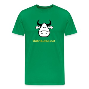 green cow with slogan (back) - Men's Premium T-Shirt