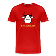 T-Shirts ~ Men's Premium T-Shirt ~ red cow with slogan (back)
