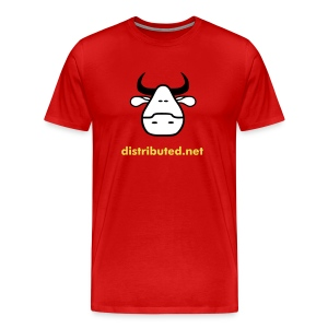 red cow with slogan (back) - Men's Premium T-Shirt