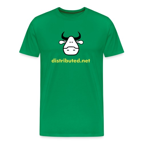green cow no slogan - Men's Premium T-Shirt