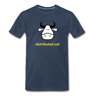 T-Shirts ~ Men's Premium T-Shirt ~ navy cow with slogan (back)