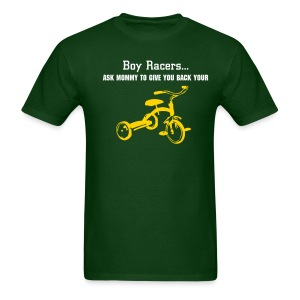 'Tryce' Heavyweight Cotton T (White/Yellow on Green) - Men's T-Shirt