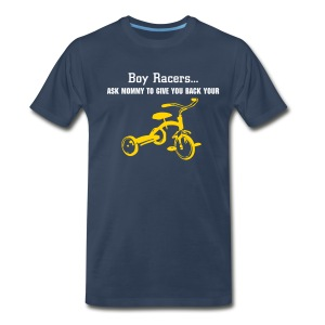 'Tryce' Heavyweight Cotton T (White/Yellow on Navy) - Men's Premium T-Shirt