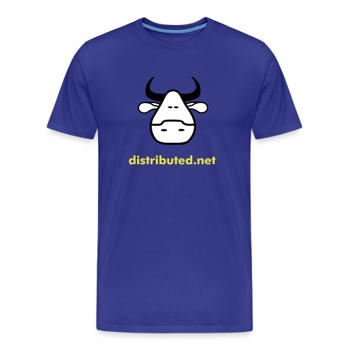 royal cow with slogan (back) - Men's Premium T-Shirt