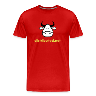 T-Shirts ~ Men's Premium T-Shirt ~ red cow no slogan