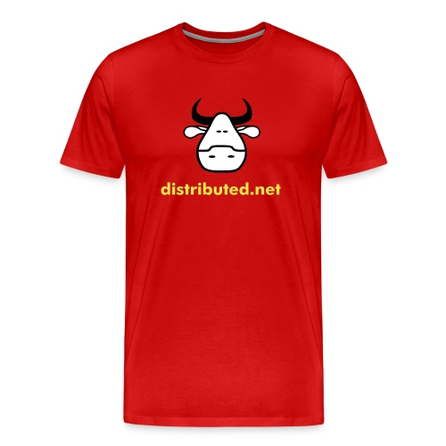 red cow no slogan - Men's Premium T-Shirt