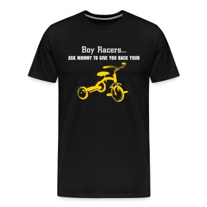 'Tryce' Heavyweight Cotton T (White/Yellow on Black) - Men's Premium T-Shirt