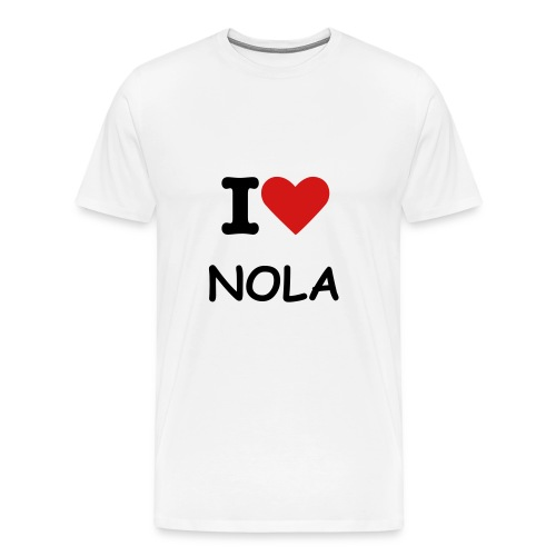 I love NOLA - Men's Premium T-Shirt