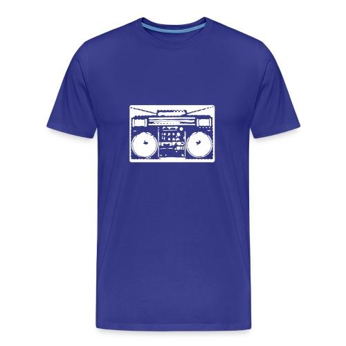 Blue Boom Box Tee - Men's Premium T-Shirt