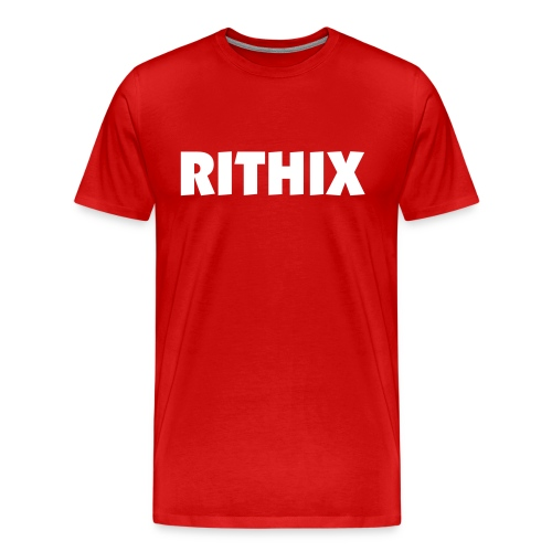 Mens White 'Rithix' Red Tee - Men's Premium T-Shirt
