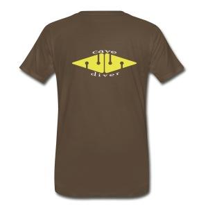 Cave Diver Arrows - Back - Men's Premium T-Shirt