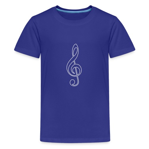 White Treble Clef - Kids' Premium T-Shirt