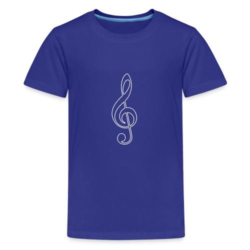 White Treble Clef - Kids' Premium T-Shirt