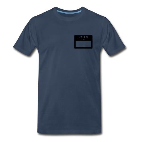Navy Blue Hello Im... - Men's Premium T-Shirt