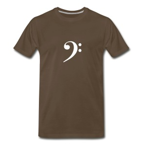 White Solid Bass Clef - Men's Premium T-Shirt