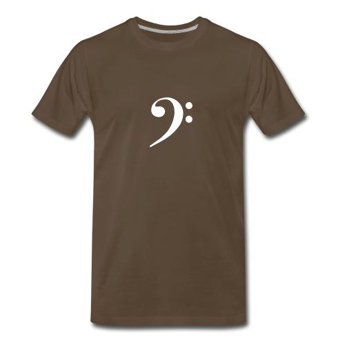 White Solid Bass Clef - Men's Premium T-Shirt