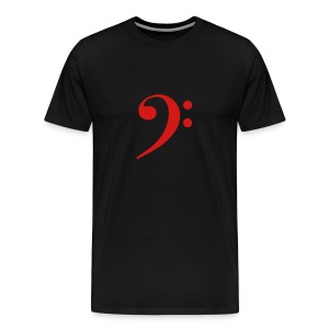 Red Solid Bass Clef - Men's Premium T-Shirt