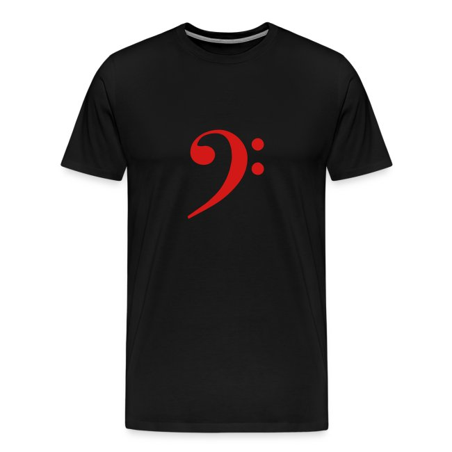 Red Solid Bass Clef
