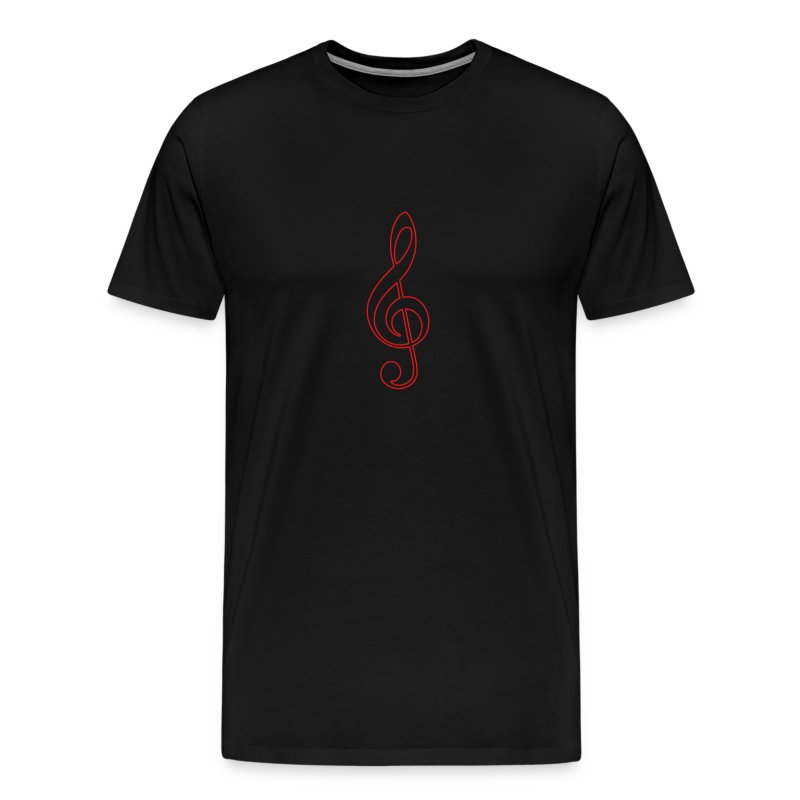 Red Treble Clef - Men's Premium T-Shirt