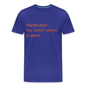 Cannot Connect (Nothing on back) - Men's Premium T-Shirt