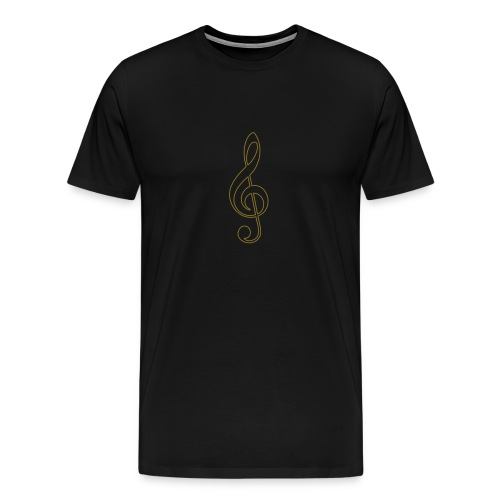 Gold Treble Clef - Men's Premium T-Shirt