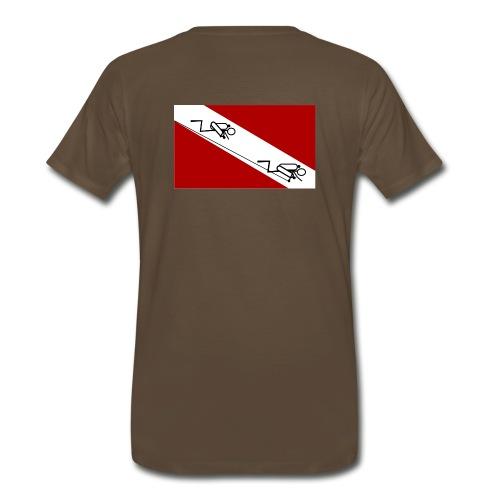Cave Diver Flag - Back - Men's Premium T-Shirt
