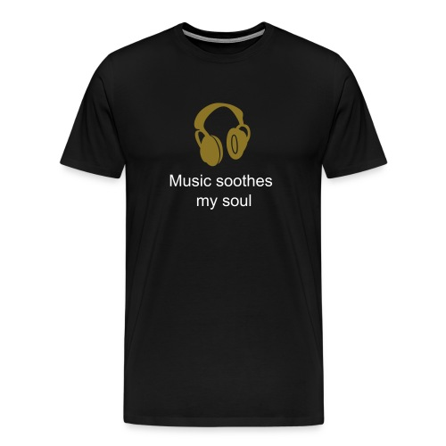 music soothes my soul - Men's Premium T-Shirt