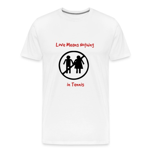 Love Means (white) - Men's Premium T-Shirt