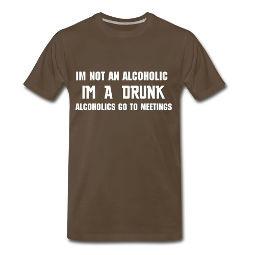 Alcoholic - Men's Premium T-Shirt