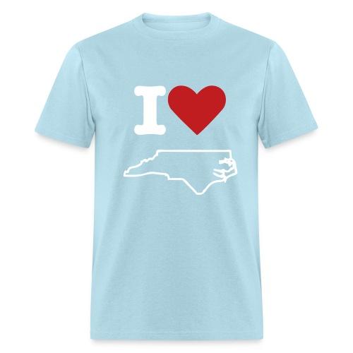 I Love North Carolina Tee - Men's T-Shirt