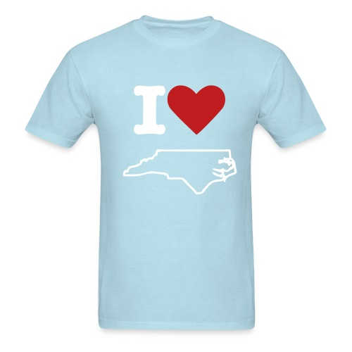 I Love North Carolina Tee - Men's T-Shirt