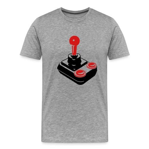 Mens Grey SSTee Joystick - Men's Premium T-Shirt