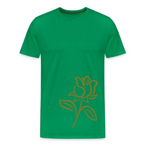 Green/Gold 3XL Rose Shirt - Men's Premium T-Shirt