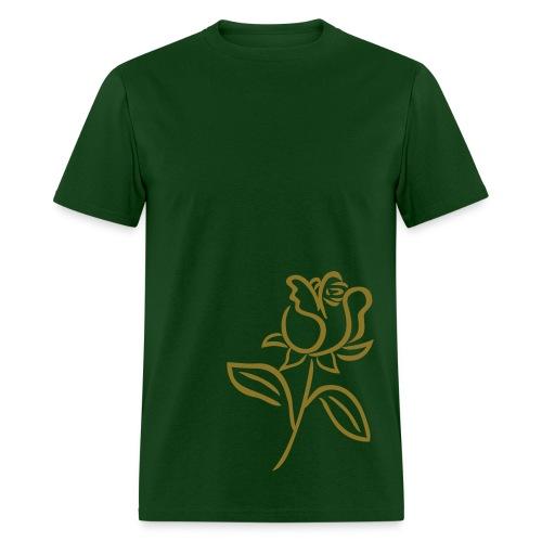 Green/Gold Rose Shirt - Men's T-Shirt