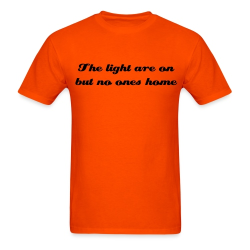 Lights are on (kelly) - Men's T-Shirt