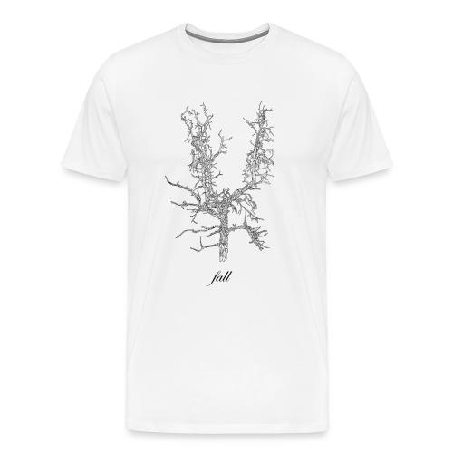 A barren fall tree. - Men's Premium T-Shirt